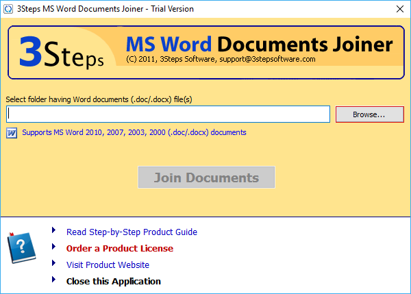 MS Word Documents Joiner Software to Combine Multiple DOC