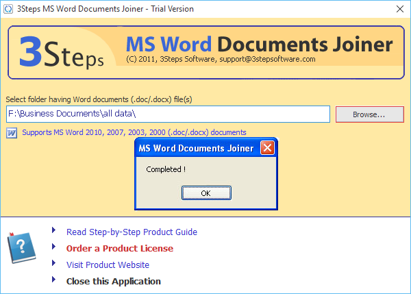 multiple word documents into one pdf